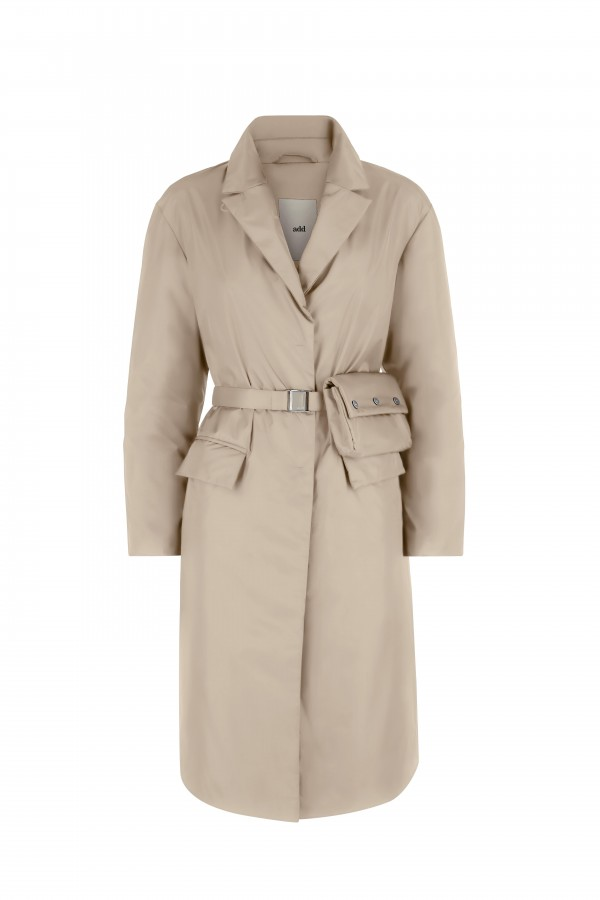 Trench coat with down...