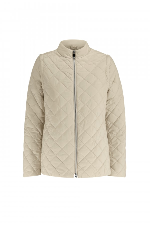 Woman quilted jacket with...