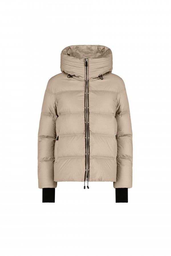 Hooded down jacket with...