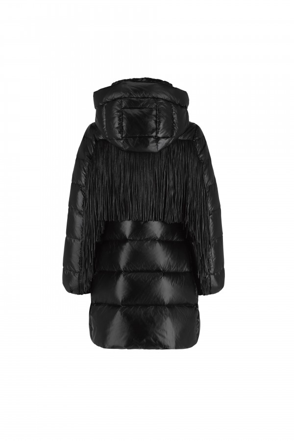 Hooded down parka and...