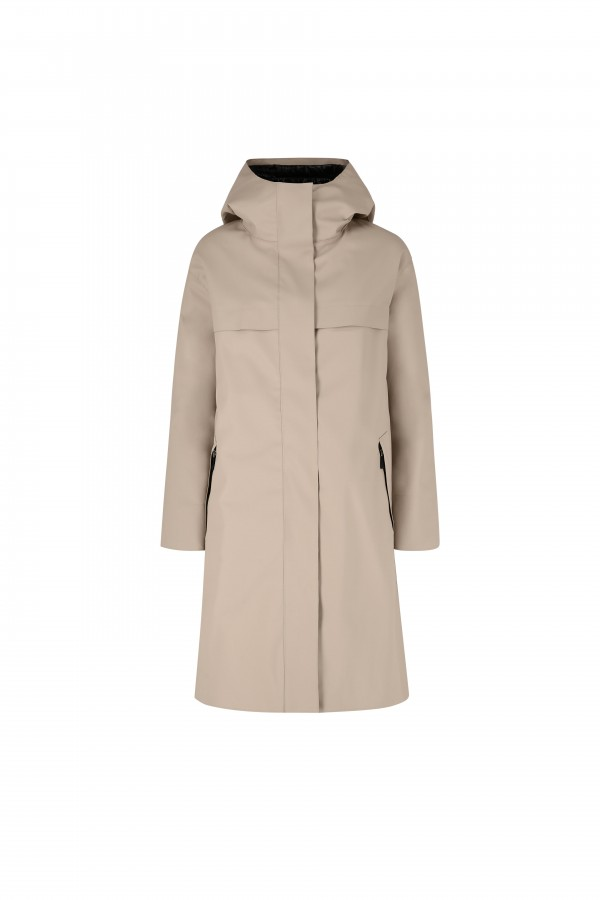Hooded parka with down padding