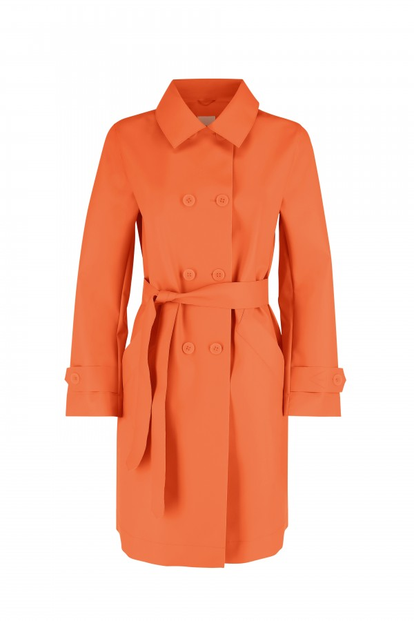 Woman rain trench coat