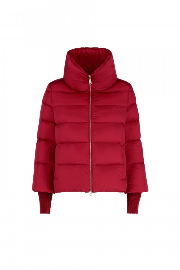 Down jacket with detachable...