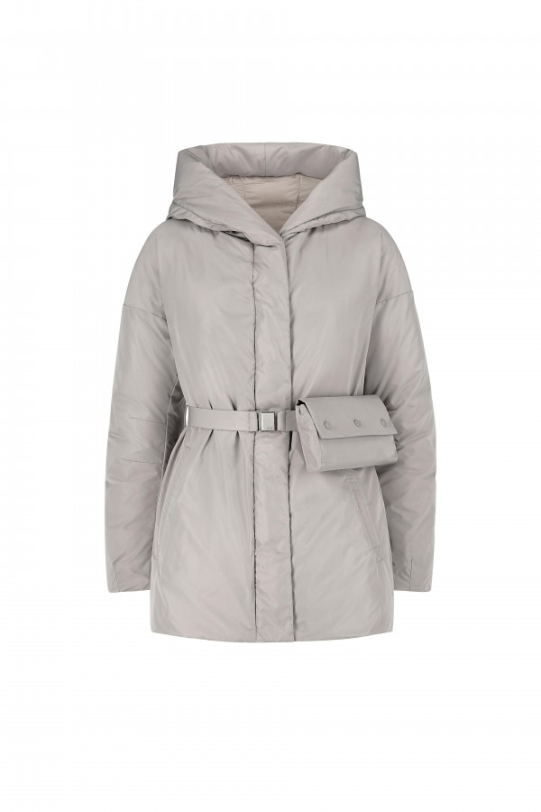 Hooded jacket with down...