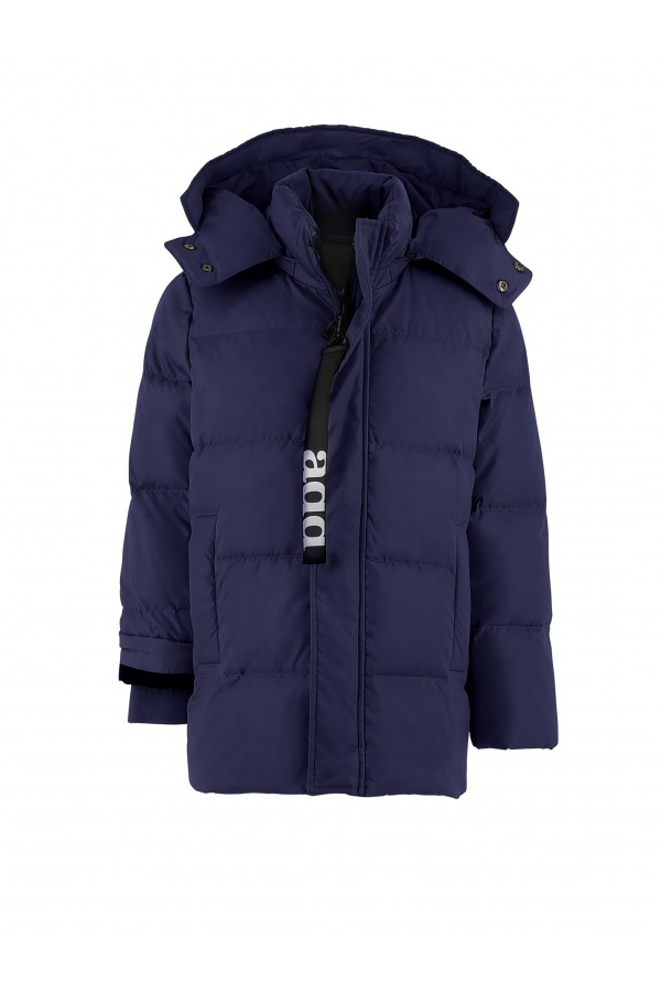 Long boy's down jacket with...
