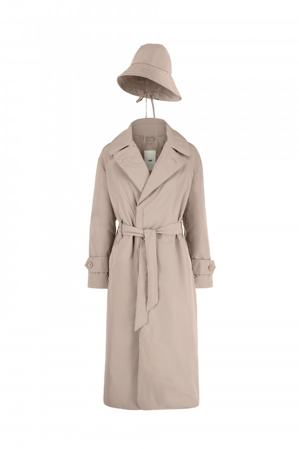 Over size trench coat with...