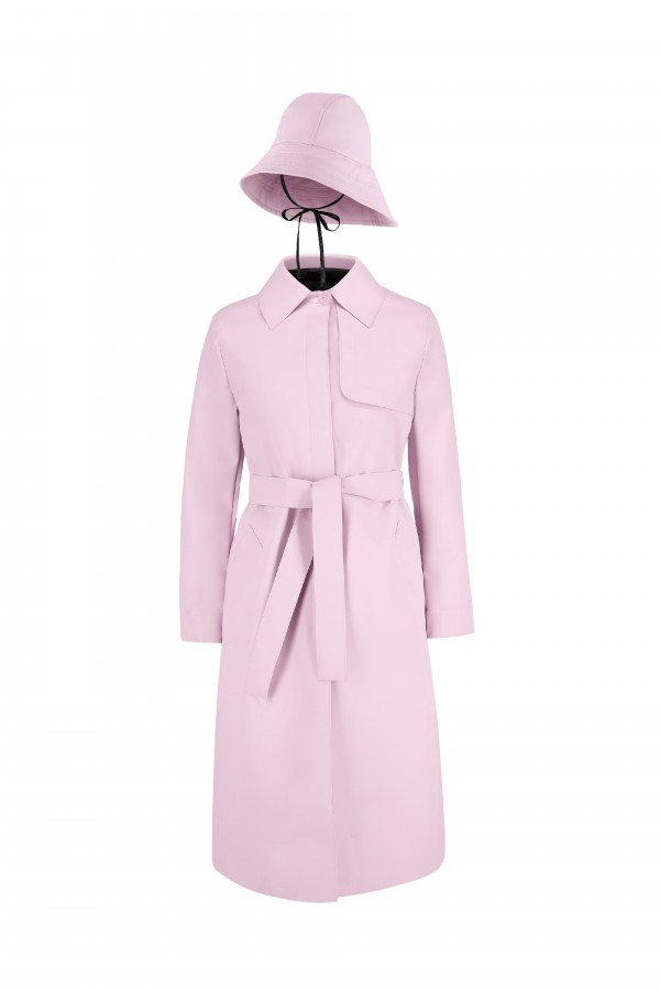 Trench coat with detachable...