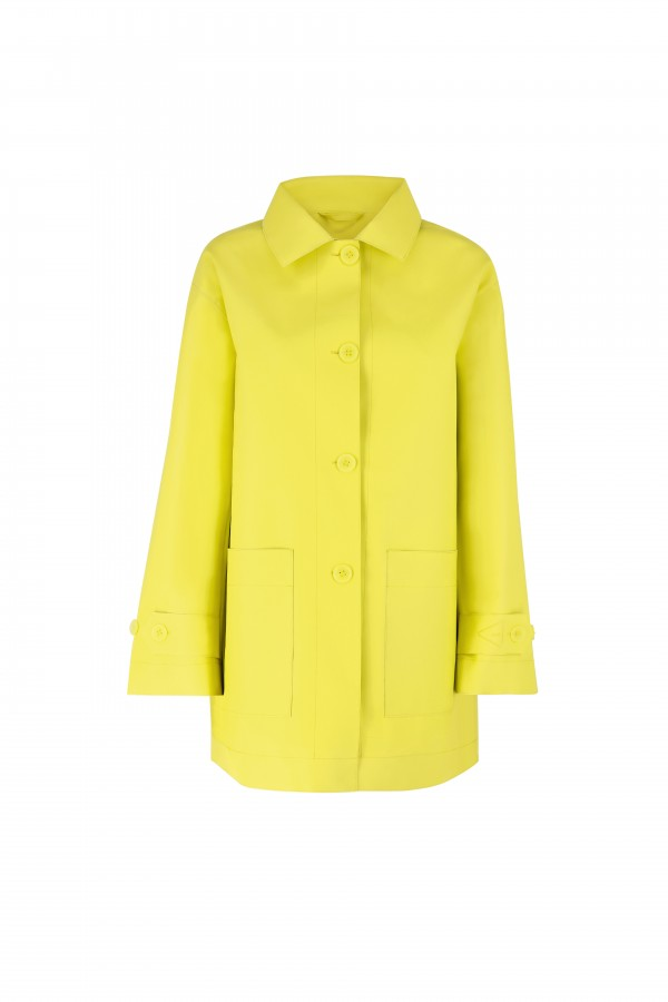 Woman long rain jacket with...